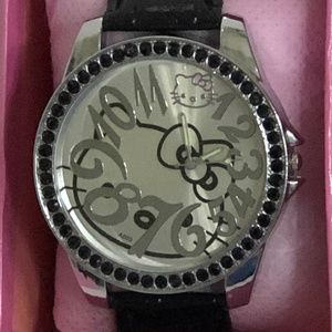 Authentic Hello Kitty Watch with Crystals - NWOT